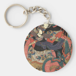 Japanese Dragon Painting circa 1860 Keychain