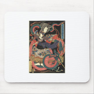 Japanese Dragon Painting circa 1860 Mouse Pad