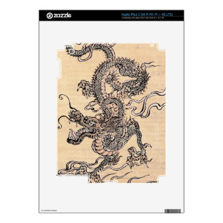 Japanese Dragon Skin Decals For iPad 3