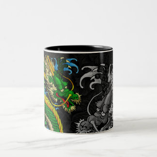 Japanese Dragon Two-Tone Coffee Mug