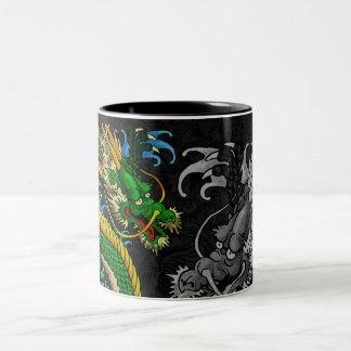 Japanese Dragon Two-Tone Coffee Mug