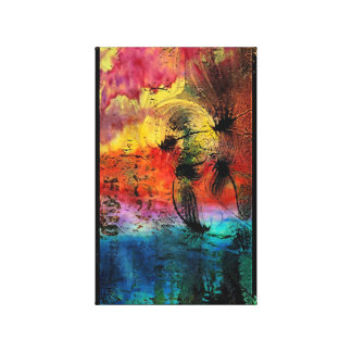 Japanese Dragonflies Abstract Canvas Print
