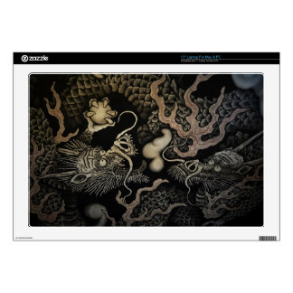 """Japanese Dragons Decal For 17"""" Laptop"""