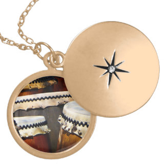 Japanese Drums Locket Necklace