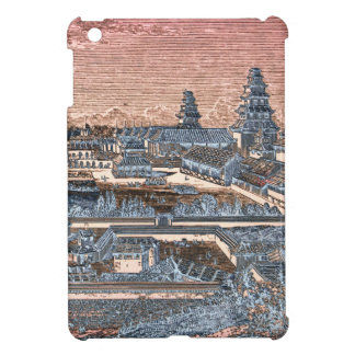 Japanese Edo Tokyo Castle Palace Complex Engraving iPad Mini Cases