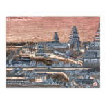 Japanese Edo Tokyo Castle Palace Complex Engraving Postcard