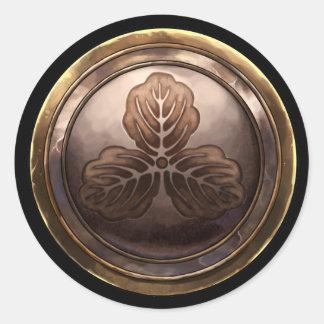 Japanese Emblem (Kamon) Classic Round Sticker