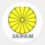 Japanese Emblem Round Sticker