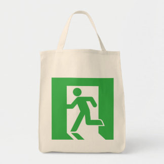 Japanese Emergency Exit Sign Bags