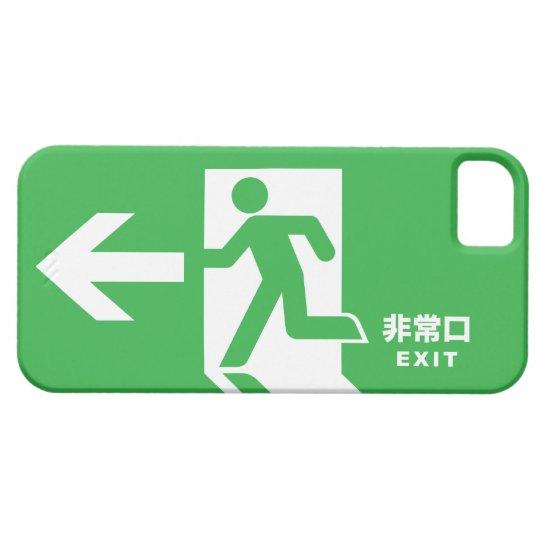 Japanese Emergency Exit Sign iPhone SE/5/5s Case