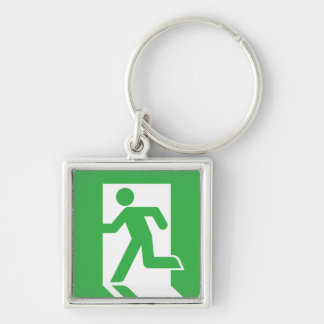 Japanese Emergency Exit Sign Keychain