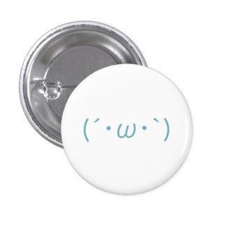 Japanese Emoticon 1 Inch Round Button