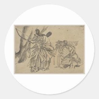 Japanese Empress circa 1800s Classic Round Sticker