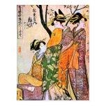 Japanese Engraving Three Geisha 1911 Postcard