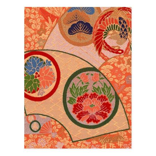 Japanese fabric 2012 Pocket Calendar Postcard