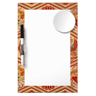 japanese fabric dry erase board with mirror