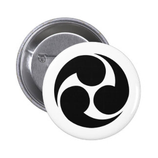 Japanese Family Crest KAMON Symbol Button