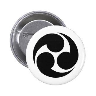 Japanese Family Crest KAMON Symbol Button