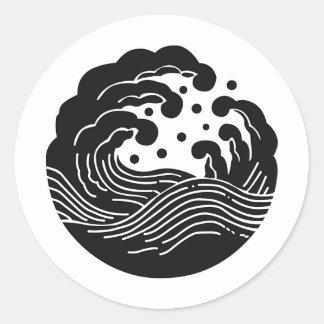 Japanese Family Crest KAMON Symbol Classic Round Sticker