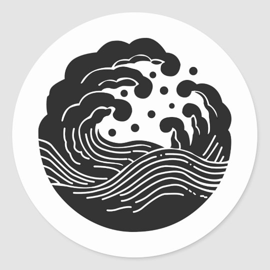 Japanese Family Crest Kamon Symbol Classic Round Sticker Zazzle