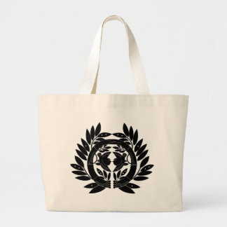 Japanese Family Crest KAMON Symbol Large Tote Bag