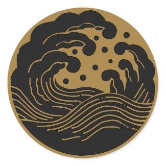日本家族の頂上KAMONの記号 sticker
