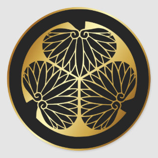 Japanese Family Crest KAMON Symbol Classic Round Sticker