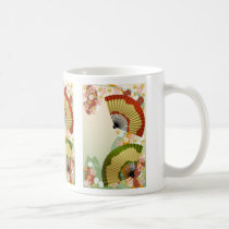 japan, japanese, japanese-fan, blossom, flower, cute, culture, traditional, asia, oriental, kimono, nippon, japanese fan, retro, Mug with custom graphic design