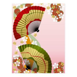 Japanese Fan 3 Postcard