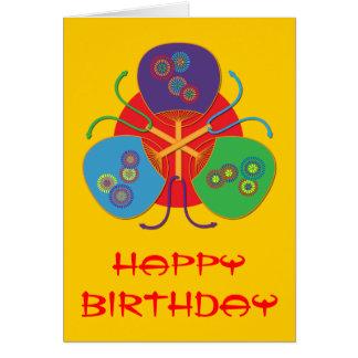 Japanese fan birthday card