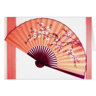 Japanese Fan Decoration- card
