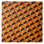 "Japanese Fan Pattern Red Black and Gold Ceramic Tile<br><div class=""desc"">A traditional Japanese pattern of fans in shades of red,  gold and black.</div>"
