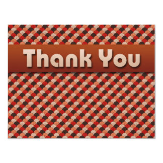 JAPANESE FAN PATTERN THANK YOU NOTES CARD