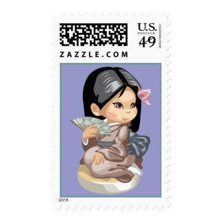 Japanese Fan Stamp