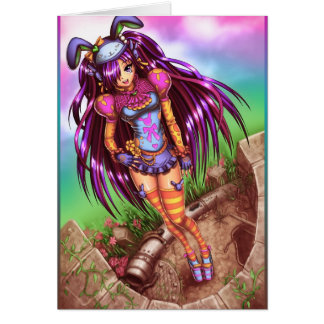 Japanese Fashion Anime Girl Card