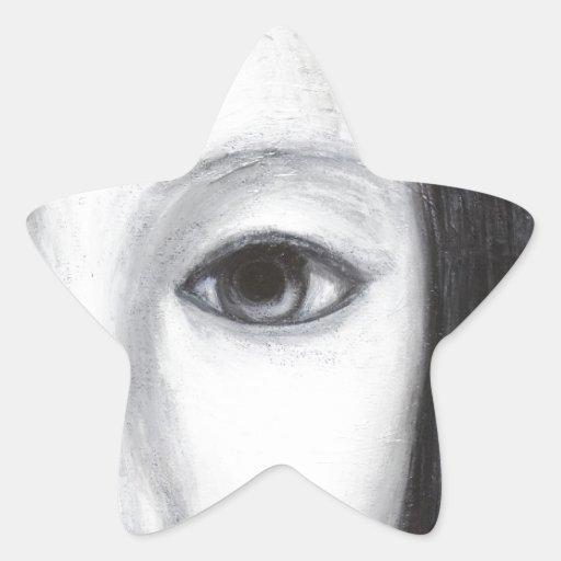 Japanese Female Vampire(surreal realism) Star Sticker