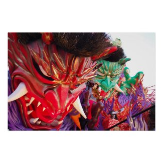 Japanese Festival Demon Float Poster print