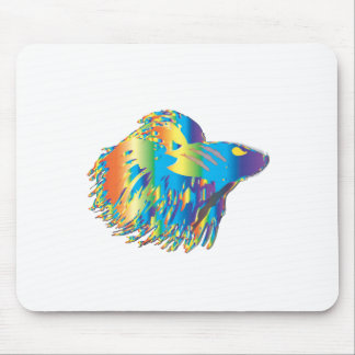 Japanese Fighting Fish Mouse Pad