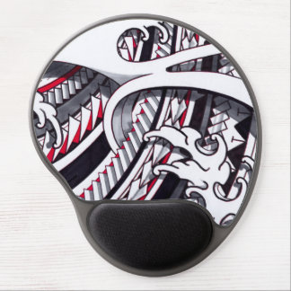 Japanese fingerwaves and Polynesian patterns Gel Mouse Pad