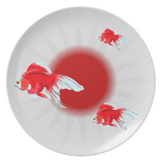 Japanese Fish Art Melamine Plate