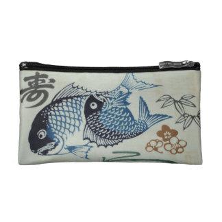 Japanese Fish Face Cosmetic Bag