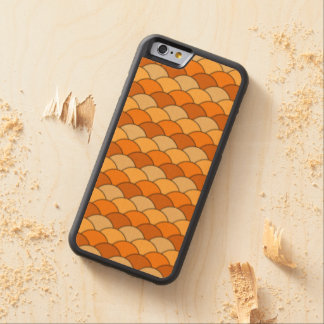 Japanese Fish Scale Pattern Carved® Maple iPhone 6 Bumper Case