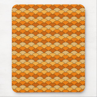 Japanese Fish Scale Pattern Mouse Pad