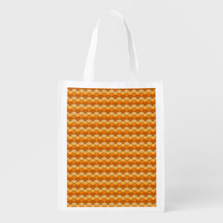 Japanese Fish Scale Pattern Reusable Grocery Bag