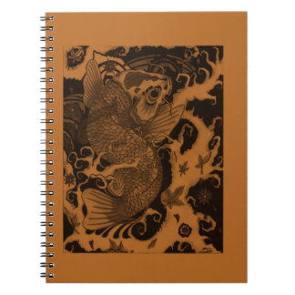 Japanese Fish Spiral Notebook