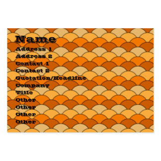Japanese Fishscale Pattern Business Card Templates