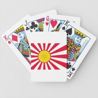 Japanese Flag And Inperial Seal Bicycle Playing Cards