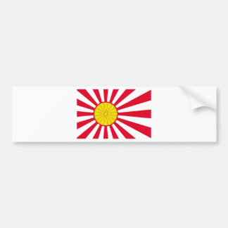 Japanese Flag And Inperial Seal Bumper Sticker