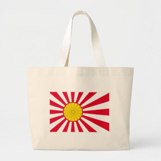 Japanese Flag And Inperial Seal Large Tote Bag