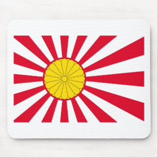 Japanese Flag And Inperial Seal Mouse Pad